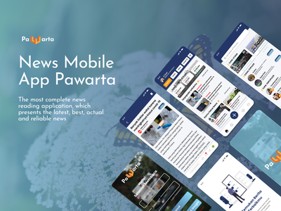 Pawarta News Mobile Application news ilustration figmadesign mobile app design uxresearch uidesign newsapp uiuxdesign