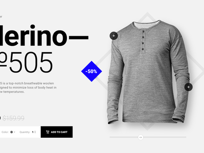 Merino №505 Product Page shopify ux ui cart shopping product page ecommerce