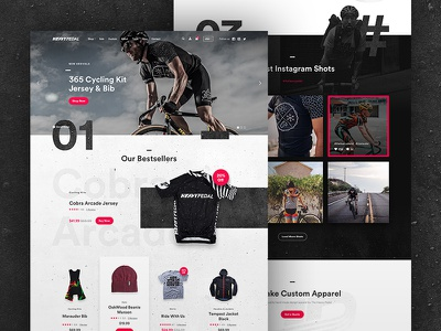 Cycling Apparel eCommerce WIP grid landing circular apparel ux ui eshop ecommerce shopify cycling
