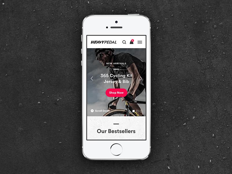Cycling Apparel eCommerce Mobile WIP ux ui shopify landing grid eshop ecommerce cycling circular apparel