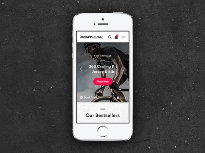 Cycling Apparel eCommerce Mobile WIP ux ui shopify landing grid eshop ecommerce cycling circular apparel