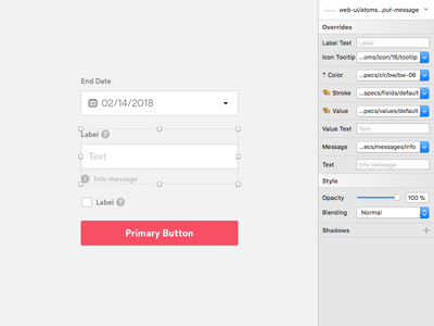 Gotta Get Those Forms Right system design patterns lib overrides sketch web kit ui