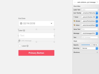 Gotta Get Those Forms Right system design patterns lib overrides sketch web kit ui