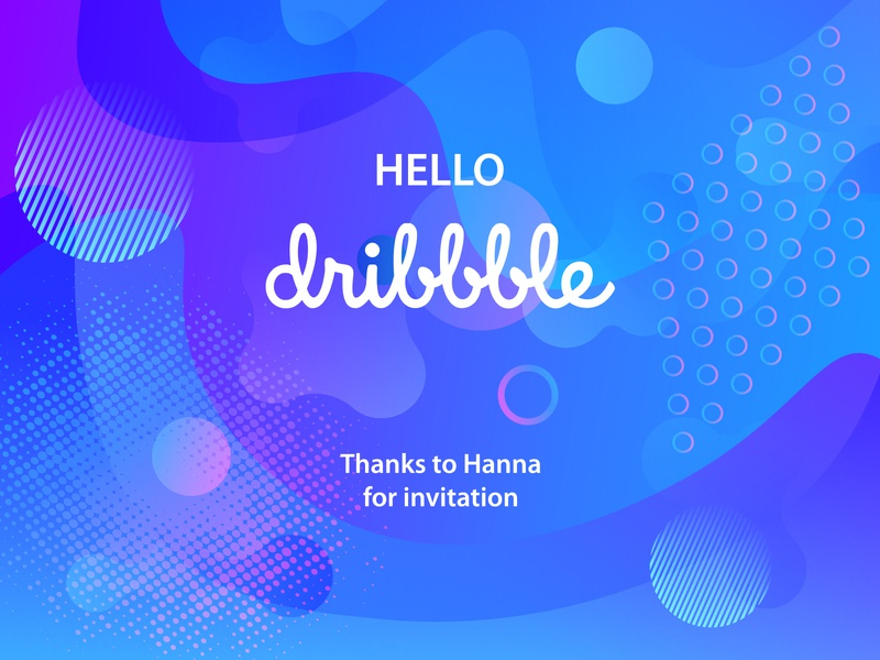 Hello dribbble! illustration design blue firstshot thanks hello dribbble hellodribbble