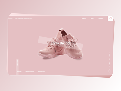 WALK On Planet ! trendy trending work website aesthetic one color ui minimal brand shoe xd adobe photoshop designs webui