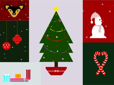 Merry Christmas cartoon minimal merry xmas gifts snow merrychristmas snowman illustrator flat graphic design art