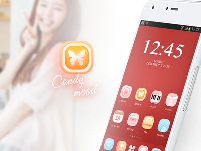 Candy Mood_1 theme jin icon huawei girl pink mood candy android 2014