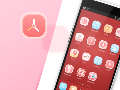 Candy Mood_2 theme pink mood jin icon huawei girl candy android 2014