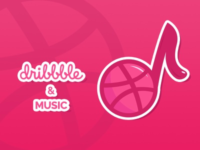 Dribbble & Music always together <3 cutie music stickr dribbble