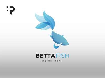 betta fish graphic design vector minimal logo illustrator illustration icon flat design art