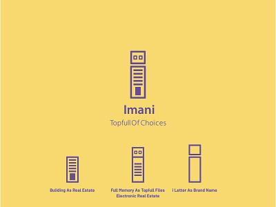 Imani Real Estate Project combined logo logotype real estate graphic design branding logo