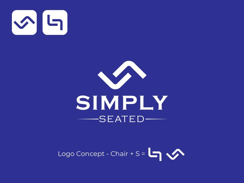 Simply Seated art vector typography minimal logo illustration icon graphic design design branding