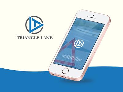 Triangle Lane Letter Logo modern logo clean logo icon logo logo and branding branding design brand design design app road logo triangle triangle logo logo design sketch logo icon minimal branding