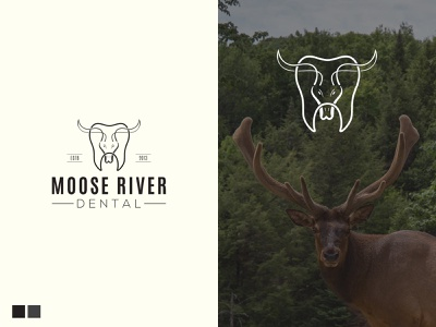 Moose Dental Logo vintage logo moose deer dental logo animal logo logodesign graphic design typography abstract logo sketch logo icon minimal branding