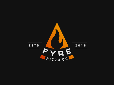 Fyre Pizza Co flame restaurant oven hot fire pizza