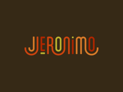Jeronimo lettering
