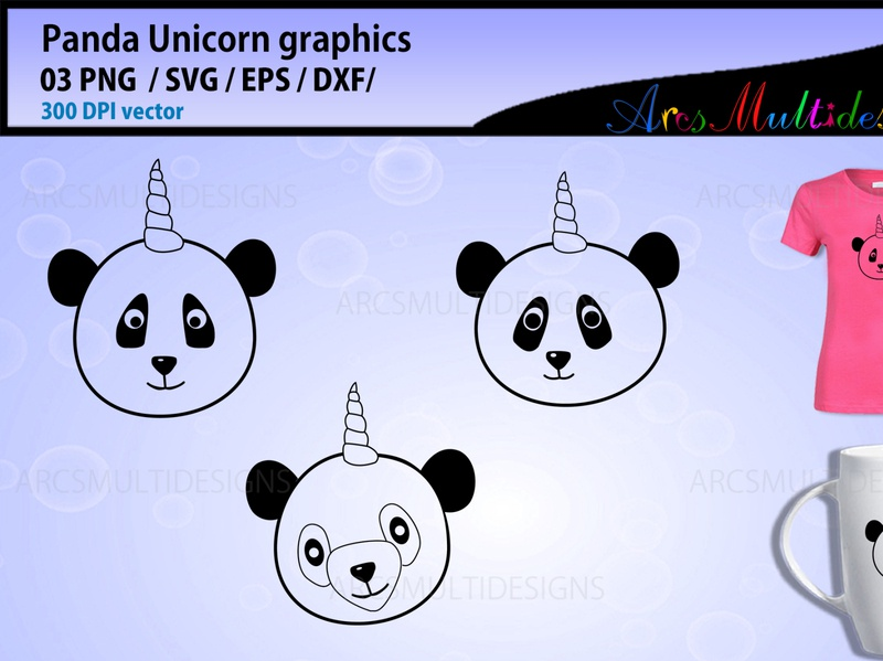 panda unicorn1 panda outline panda face panda bear panda logo printable graphics illustration clipart silhouette pandacorn unicorn panda panda unicorn panda