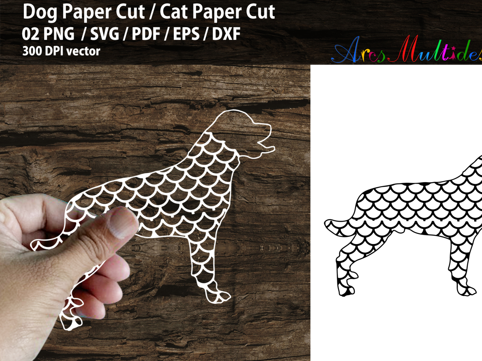Dog Paper Cut Cat Paper Cut By Arcs Multidesigns On Dribbble