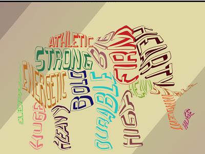TYPOGRAPHY animal words icon typography illustration design art