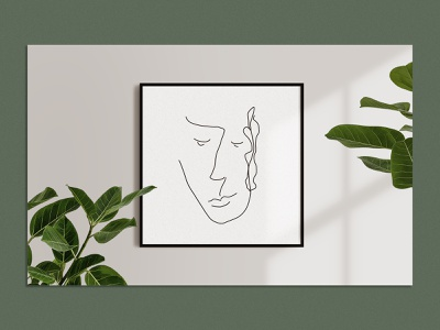 Abstract Faces - Line Art prints print poster modern illustration hand drawn abstract face faces face lineart abstract