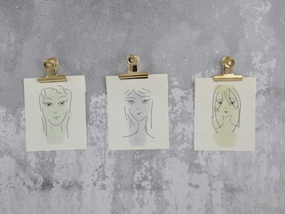 Hand Drawn Face Illustrations hand drawn faces face sketch illustration hand drawn