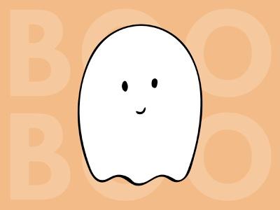 Ghosty doodle digitalart illustration handdrawn boo halloween
