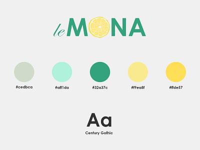 LeMona lemons stand lemonade brand design branding
