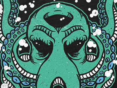 Octopus underwater animal shirt merch merch design shirt design illustration octopus