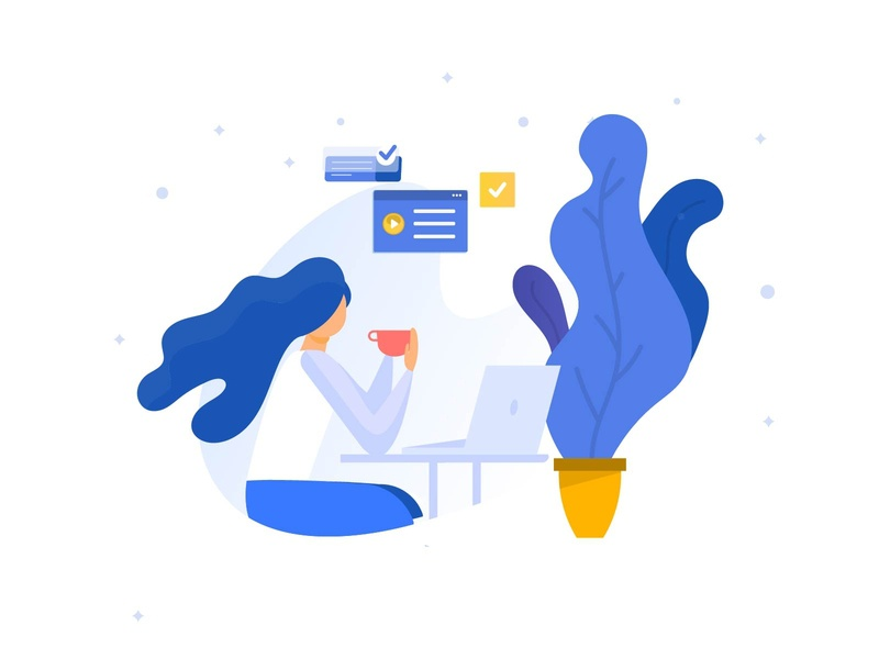 Work from home Classic illustration freelance writer indian designer indianpix indian design studio office meeting meeting apple mackbook laptop co-working minimal minimal illustration classic illustration clue team work desk working woman working coffee cup work from home