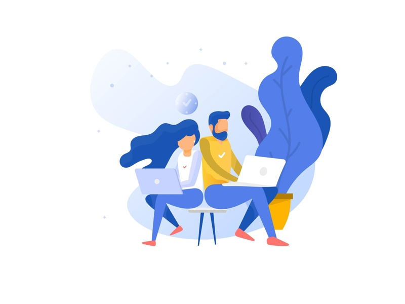 work from home classic illustration indian designer elegant illustrations co-working co-working space working illustration work from home sanket pal classic illustration light populer dribbble populer illustration freebie free illustration ui illustration clean ui indian design studio indianpix simple clean