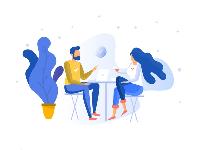 Work from home Classic Illustration indian illustrator indian designer co-working co-working space office space office working working man working woman minimal illustration classic illustration design team collaboration team classic illustration wfh work from home illustration