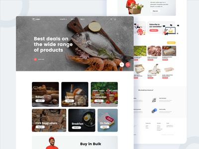 Sea Food Landing Page landing page food illustration indian designer sanket pal sanket minimal fish food app freebie food and drink indian design agency indianpix webdesign product landing page product page sea-food food landing page
