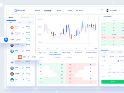 Crypto Exchange Design indian blockchain designer sanket indianpix indian designer crypto designer blockchain trading trading app crypto marketplace buy sell bitcoin exchange light theme bitcoin crypto ui crypto wallet minimal crypto exchange crypto exchange crypto