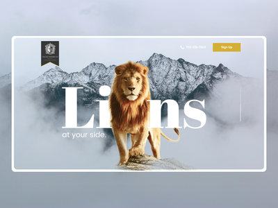 Lion - WildLife Landing Page modern landing page custom wordpress wordpress top indian designer sanket pal sanket indian design studio indianpix ux design ui design web banner hero webdesign landing page lion king wildlife wild tiger