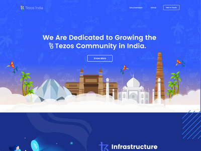 Tezos india Webdesign indian blockchain designer indianpix design studio tezos official tezos community india dark theme blue theme tezos india foundation indian style indian blue webdesign landing page blockchain product tezos product crypto tezos blockchain blockchain xtz tezos india tezos
