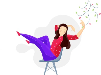 Relaxed Lady Illustration