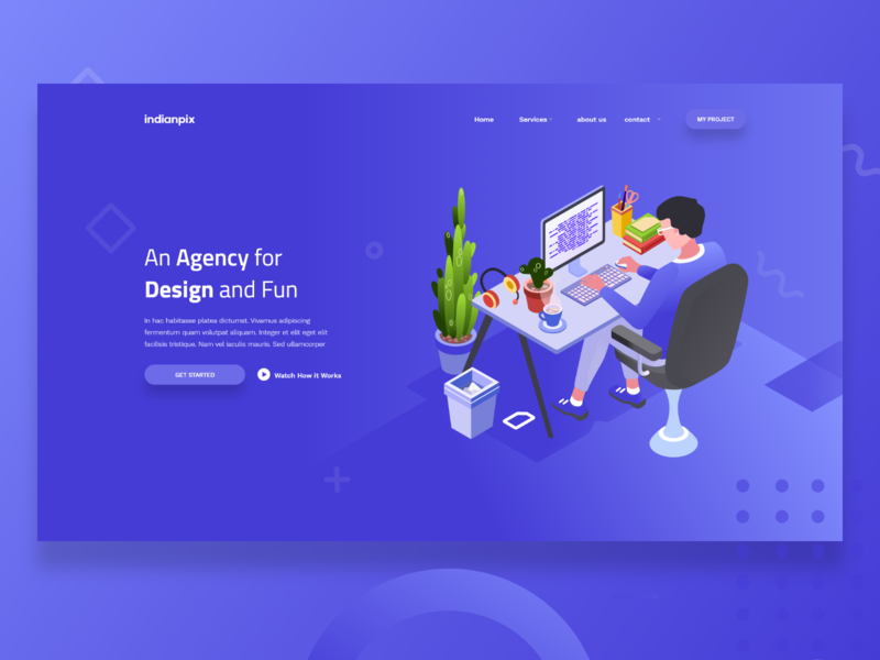 Agency Landing page - Exploration ui  ux mock-up minimal illustration home page digital agency design creative daily ui landing page clean ui agency