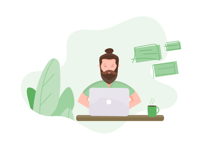 customer support page illustration