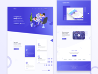 design agency website concept