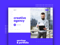 creative agency web  concept