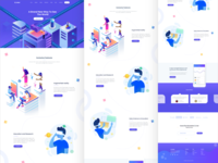 virtual reality startup landing page exploration freebie