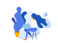 working woman illustration