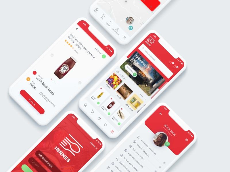 Food E-Commerce IOS app Design indianpix designs indianpix online service ux design ui design ui  ux app ui design app ui kit android app classic simple modern red app clean ecommerce food ios 10 ios app app red