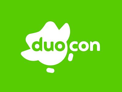 Duolingo Duocon Logo colorful illustration identity icon brand geometric minimal owl language conference brand identity branding duolingo logo