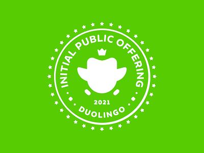 Duolingo IPO Logo times square nasdaq initial public offering ipo brand seal design duolingo geometric simple brand identity logo minimal branding