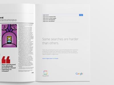 Google Squared Print Ad google print ad google advertising google branding simple google search google product colorful google design magazine ad google squared