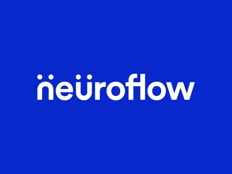 NeuroFlow Logo face icon appicon wordmark psychology app neuroflow minimal geometric branding and identity branding logo