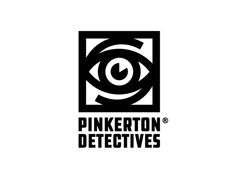 Pinkerton Detective Agency Logo wild west pinkerton detectives infinite eye eyes thick lines brand identity simple brand icon identity minimal geometric branding eye logo pinkertons rdr2 red dead redemption