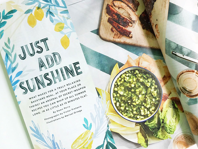 Real Simple Magazine food illustration editorial watercolor lettering illustration