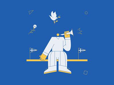 28h 1 branding vector pigeon blue kommigraphics greek fat character music
